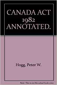constitutional law of canada hogg ebook