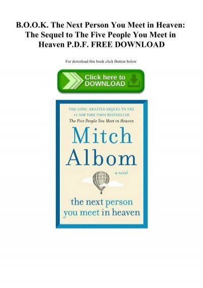 the five people you meet in heaven epub download